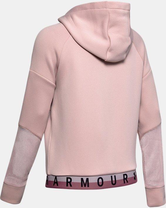 Women's UA /MOVE Mesh Inset Full Zip, Pink, pdpMainDesktop image number 4