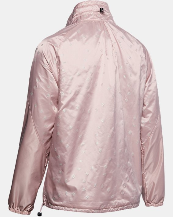 Women's UA RECOVER™ Woven Iridescent Full Zip, Pink, pdpMainDesktop image number 4
