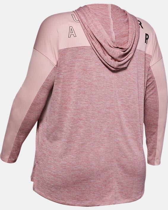 Women's UA Tech™ Twist Graphic Hoodie, Pink, pdpMainDesktop image number 5