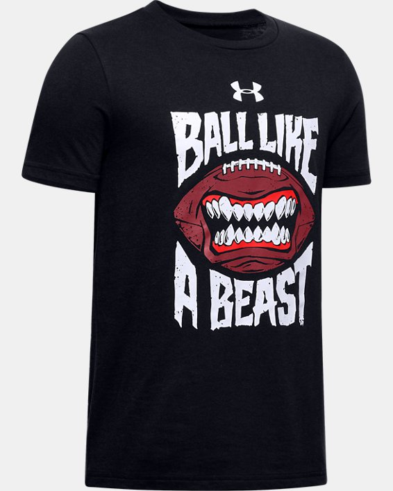 Boys' UA Ball Like a Beast T-Shirt, Black, pdpMainDesktop image number 0