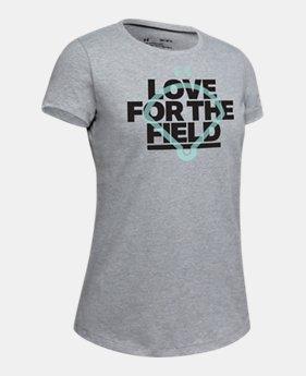 9a0912c0a4cd5b Girls  UA Love Field Short Sleeve T-Shirt 2 Colors Available  20