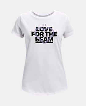 39aad497e743 Girls  UA Love Beam Short Sleeve T-Shirt FREE U.S. SHIPPING 2 Colors  Available