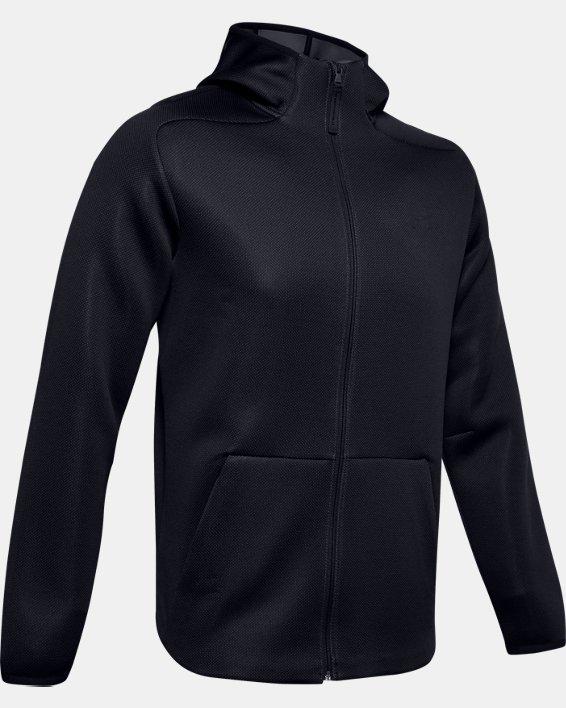 Men's UA /MOVE Full Zip Hoodie, Black, pdpMainDesktop image number 3