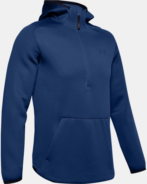 Men's UA /MOVE ½ Zip Hoodie, Blue, pdpMainDesktop image number 4