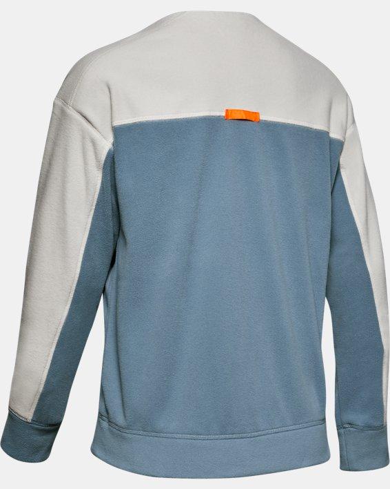 Women's UA Always On Polar Fleece Full Zip, Gray, pdpMainDesktop image number 4