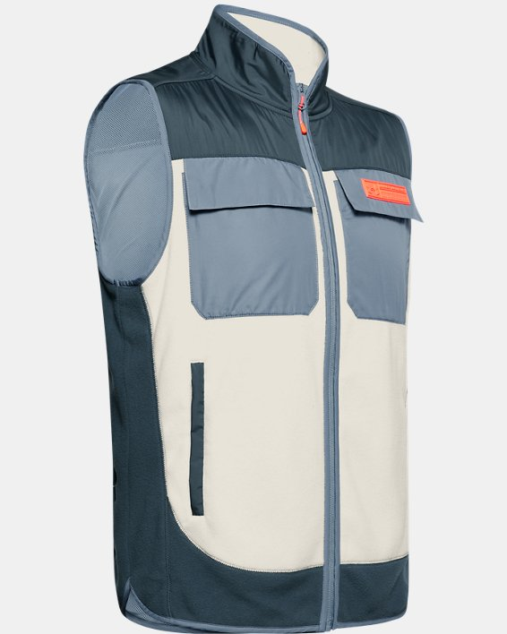 Men's UA Always On Polar Fleece Vest, Gray, pdpMainDesktop image number 4