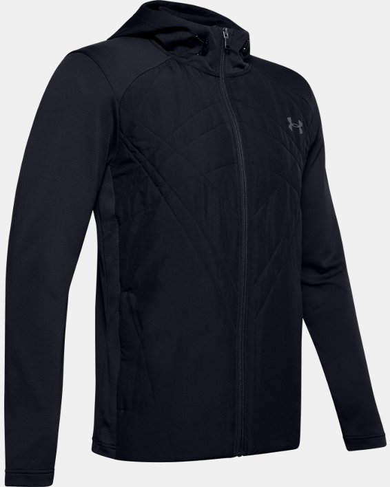 Men's ColdGear® Sprint Hybrid Jacket, Black, pdpMainDesktop image number 5