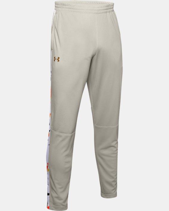 Men's UA Sportstyle Pique Upstream Camo Track Pants, White, pdpMainDesktop image number 3