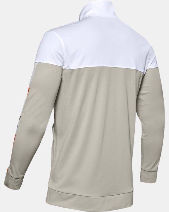Men's UA Sportstyle Pique Upstream Camo Track Jacket, White, pdpMainDesktop image number 5