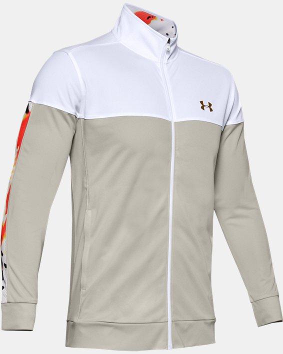 Men's UA Sportstyle Pique Upstream Camo Track Jacket, White, pdpMainDesktop image number 4