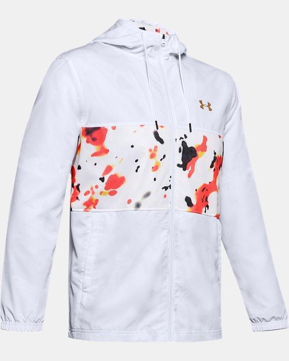 Men's UA Sportstyle Wind Upstream Camo Jacket, White, pdpMainDesktop image number 4