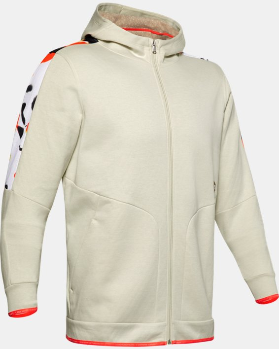 Men's UA RECOVER™ Fleece Upstream Camo Full Zip, White, pdpMainDesktop image number 4