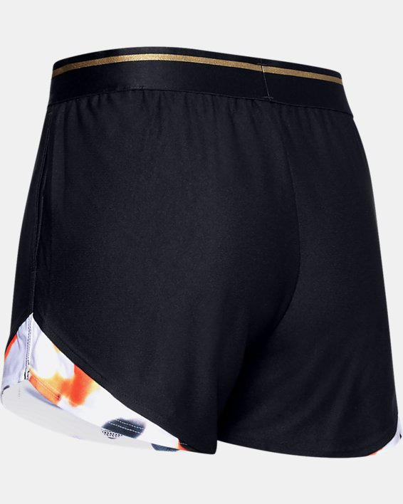 Women's UA Play Up 3.0 Upstream Camo Shorts, Black, pdpMainDesktop image number 1