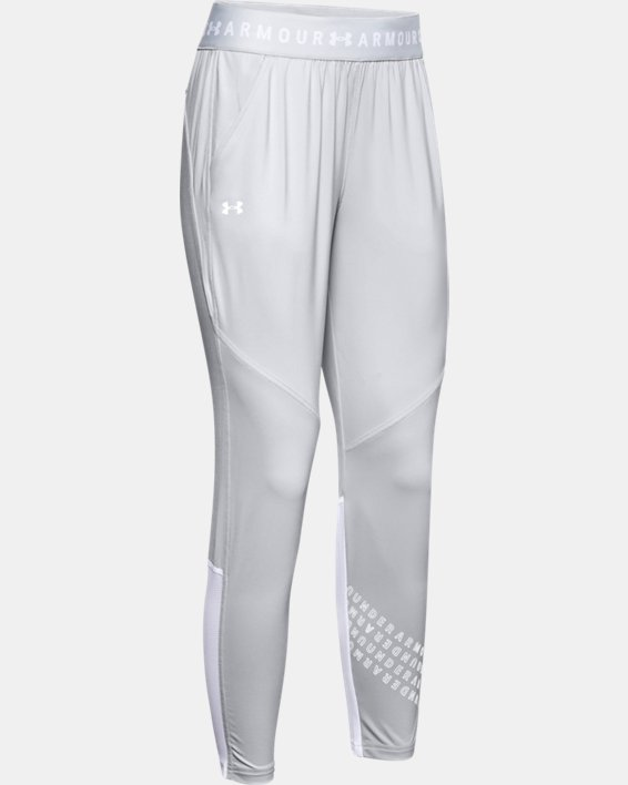 Women's UA Armour Sport Graphic Pants, Gray, pdpMainDesktop image number 4