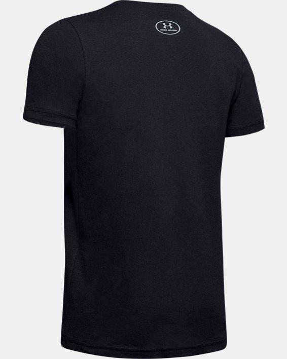 Kids' UA TB12 6-Ctory Short Sleeve, Black, pdpMainDesktop image number 1