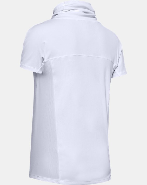 Women's UA Iso0Chill Cowl Neck Short Sleeve, White, pdpMainDesktop image number 4