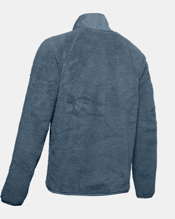 Men's UA Always On Sherpa ¼ Zip, Gray, pdpMainDesktop image number 4