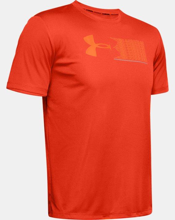 Men's UA Run Graphic Escape T-Shirt, Orange, pdpMainDesktop image number 4