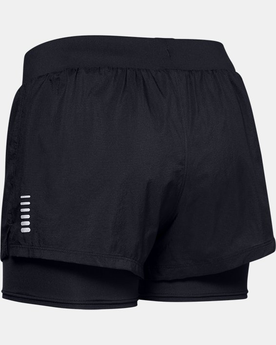 Women's UA Qualifier Speedpocket 2-in-1 Shorts, Black, pdpMainDesktop image number 4