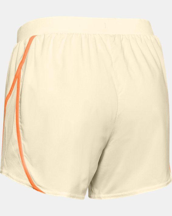 Women's UA Mileage 2.0 Shorts, Yellow, pdpMainDesktop image number 5