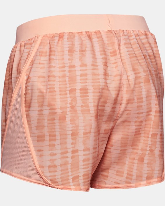 Women's UA Mileage 2.0 Printed Shorts, Orange, pdpMainDesktop image number 5