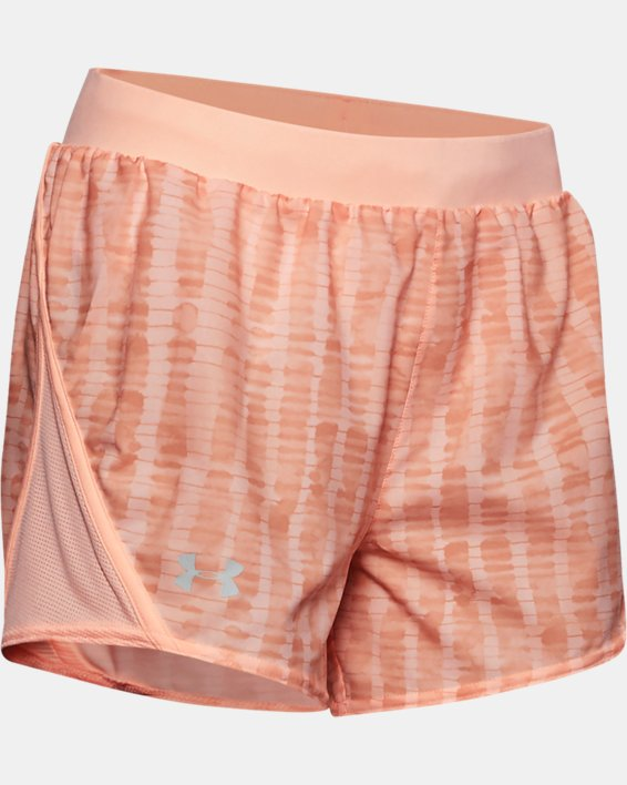 Women's UA Mileage 2.0 Printed Shorts, Orange, pdpMainDesktop image number 4