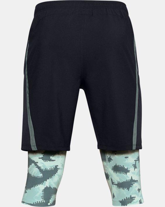 Men's UA Launch SW Long 2-in-1 Printed Shorts, Blue, pdpMainDesktop image number 4