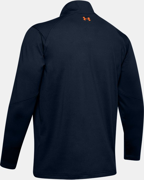 Men's UA Storm Midlayer ½ Zip, Navy, pdpMainDesktop image number 4