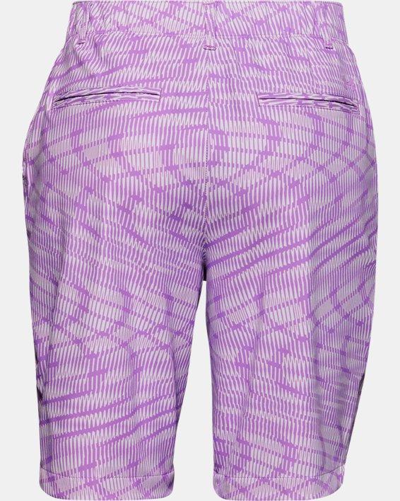 Women's UA Links Printed Shorts, Purple, pdpMainDesktop image number 1