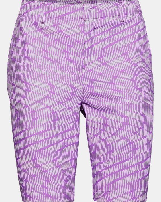 Women's UA Links Printed Shorts, Purple, pdpMainDesktop image number 0