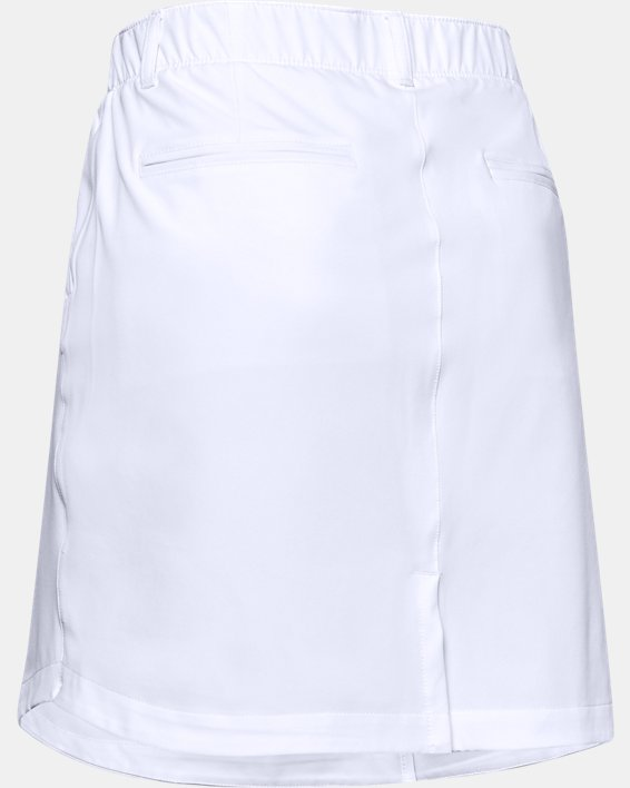 Women's UA Links Woven Skort, White, pdpMainDesktop image number 5