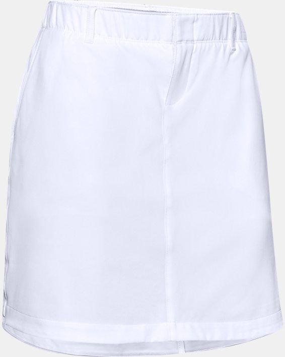 Women's UA Links Woven Skort, White, pdpMainDesktop image number 4