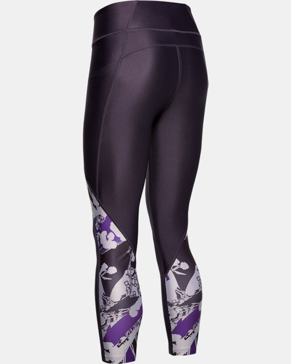 Women's UA WHM HeatGear® Armour Printed Ankle Crop, Purple, pdpMainDesktop image number 4