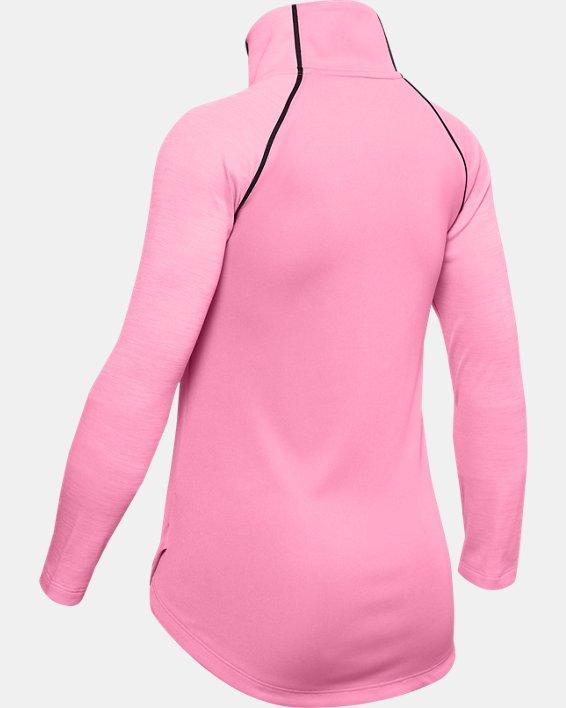Girls' UA Tech™ Big Logo ½ Zip, Pink, pdpMainDesktop image number 1