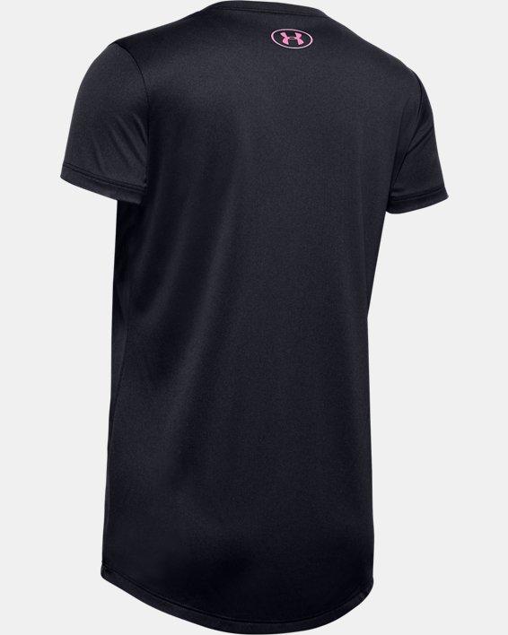 Haut à manches courtes UA Tech™ Big Logo pour fille, Black, pdpMainDesktop image number 1
