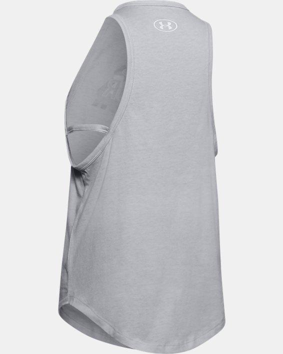 Girls' UA Print Fill Branded Tank, Gray, pdpMainDesktop image number 1