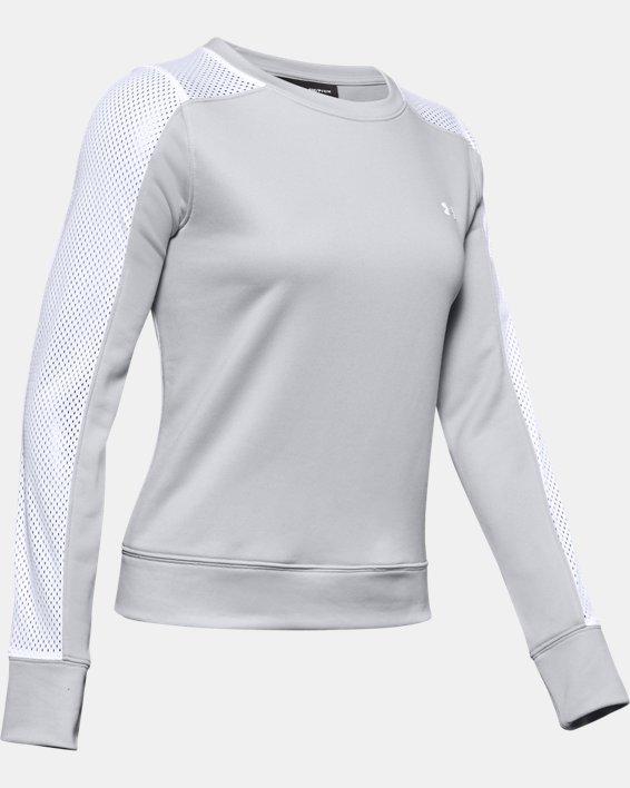 Women's UA Tech™ Terry Crew, Gray, pdpMainDesktop image number 4