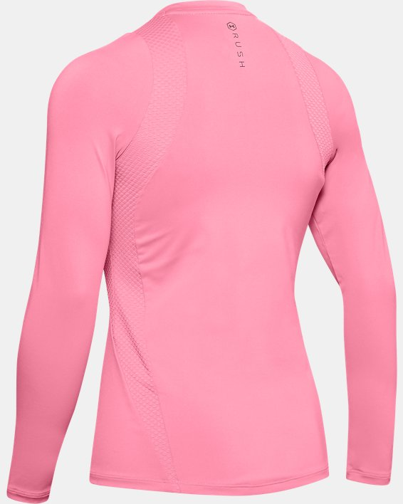 Women's UA RUSH™ Long Sleeve, Pink, pdpMainDesktop image number 4