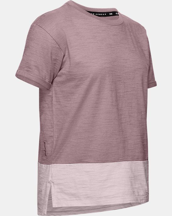 Women's Charged Cotton® Short Sleeve, Pink, pdpMainDesktop image number 4
