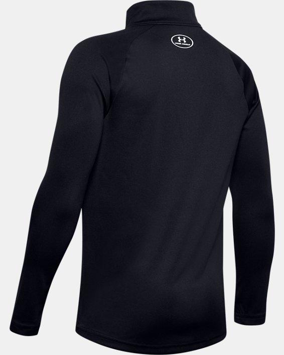 Boys' UA Tech™ 2.0 ½ Zip, Black, pdpMainDesktop image number 1