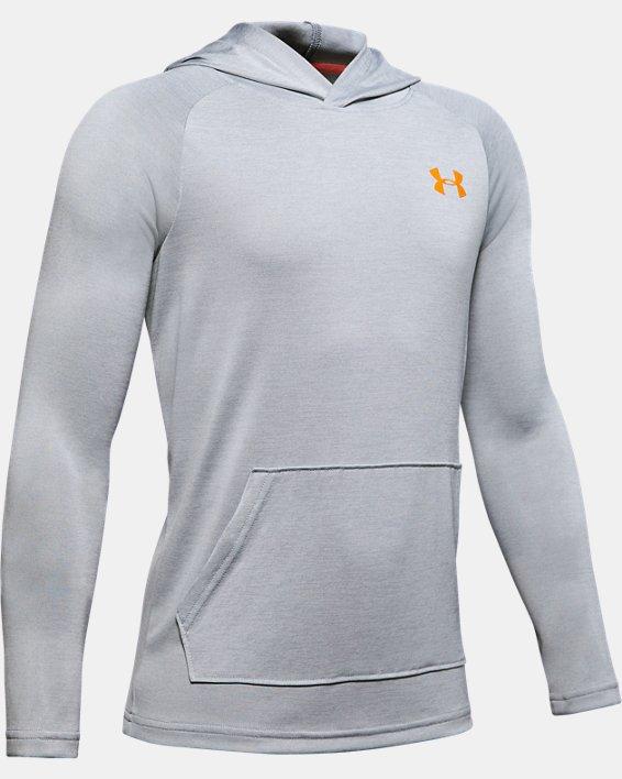 Boys' UA Tech™ 2.0 Hoodie, Gray, pdpMainDesktop image number 0