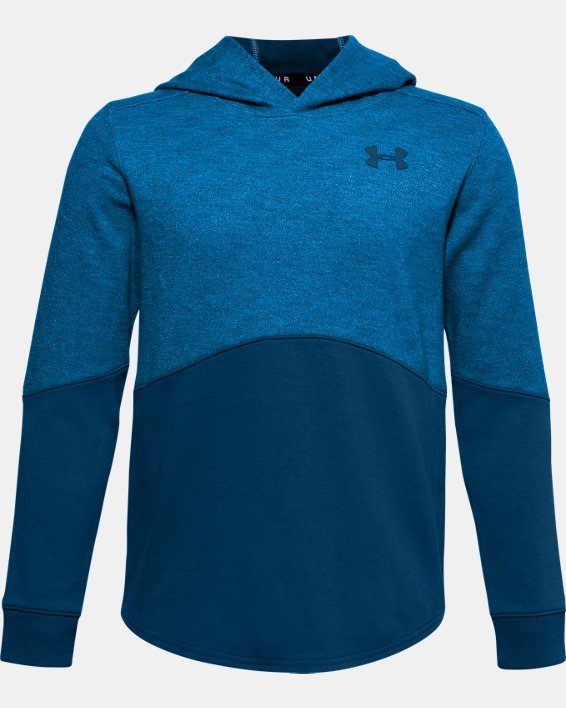 Boys' UA Sportstyle Double Knit Hoodie, Blue, pdpMainDesktop image number 0