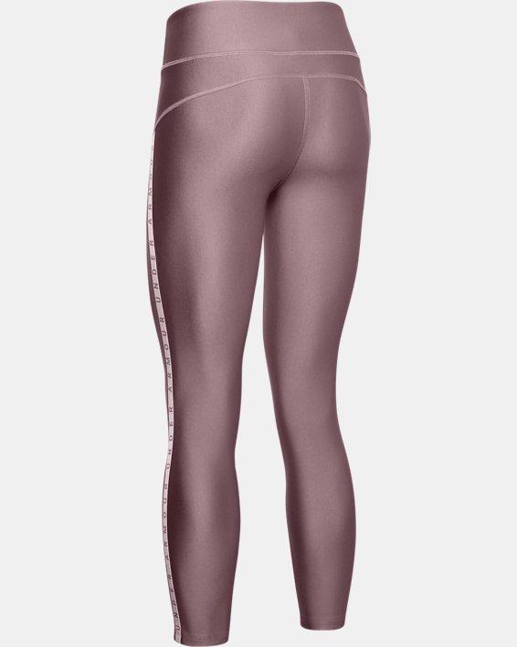 Women's HeatGear® Armour Vertical Branded Ankle Crop, Pink, pdpMainDesktop image number 5