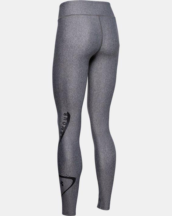 Women's HeatGear® Armour Graphic Swerve Wordmark Leggings, Gray, pdpMainDesktop image number 5