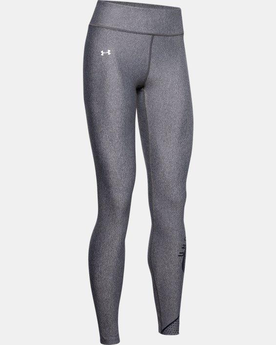 Women's HeatGear® Armour Graphic Swerve Wordmark Leggings, Gray, pdpMainDesktop image number 4