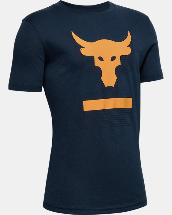 Boys' Project Rock Brahma Bull T-Shirt, Navy, pdpMainDesktop image number 0