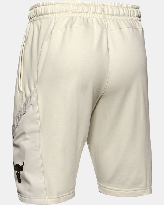 Men's Project Rock Terry Shorts, White, pdpMainDesktop image number 4
