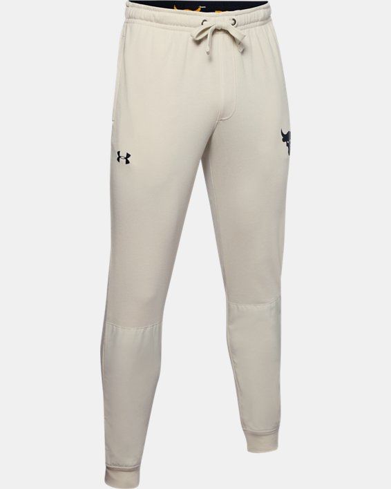 Men's Project Rock Terry Joggers, White, pdpMainDesktop image number 4