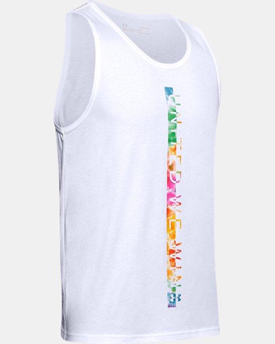 Mens UA UWW Pride Tank, White, pdpMainDesktop image number 4