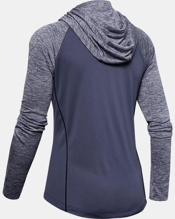 Women's UA Velocity hoodie, Blue, pdpMainDesktop image number 5